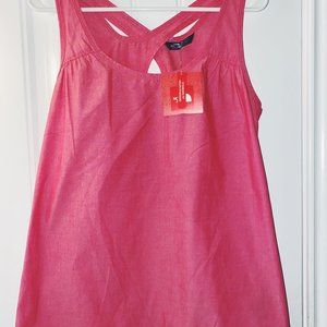 The North Face crossed back rose red/pink tank top